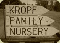 Kropf Family Nursery Sign